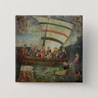 Christ walking on the water, after the 'Navicella' Pinback Button