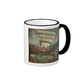 Christ walking on the water, after the 'Navicella' Ringer Mug