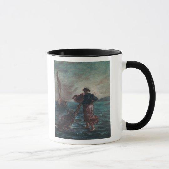 Christ walking on water mug