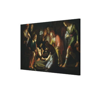 Christ Washing the Disciples' Feet, 1623 Canvas Print