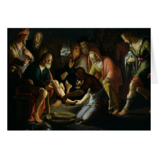 Christ Washing the Disciples' Feet, 1623 Card