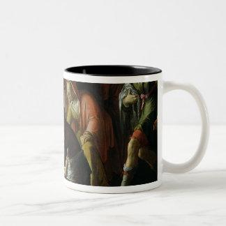 Christ Washing the Disciples' Feet, 1623 Two-Tone Coffee Mug