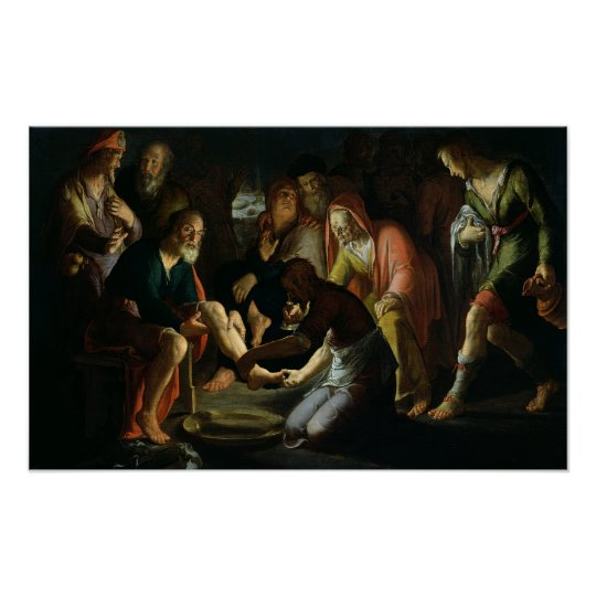 Christ Washing the Disciples' Feet, 1623 Poster