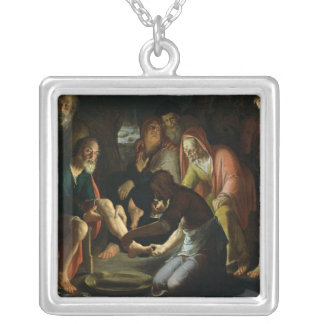 Christ Washing the Disciples' Feet, 1623 Silver Plated Necklace