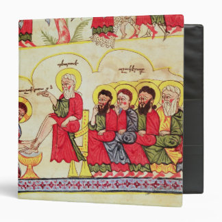 Christ washing the disciples feet 3 ring binder