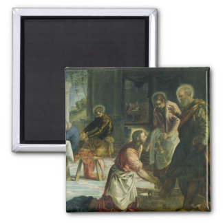 Christ Washing the Disciples' Feet, c.1547 2 Inch Square Magnet