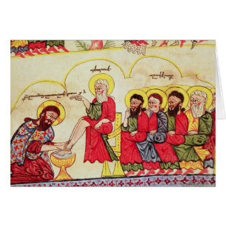 Christ washing the disciples feet card