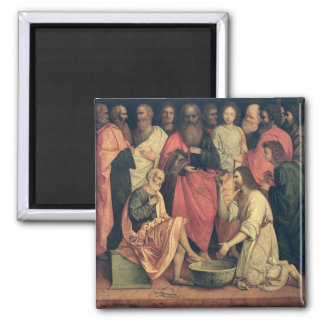 Christ Washing the Disciples' Feet 2 Inch Square Magnet