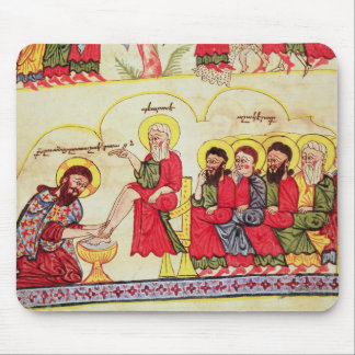 Christ washing the disciples feet mouse pad