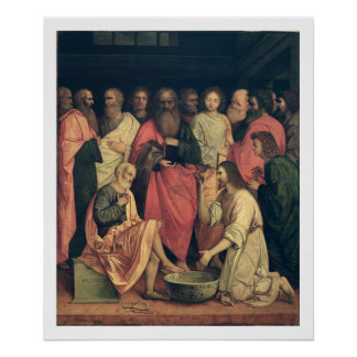 Christ Washing the Disciples' Feet Poster