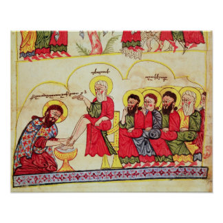 Christ washing the disciples feet poster