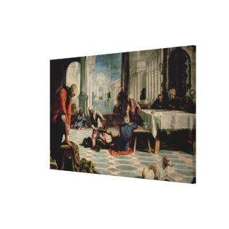 Christ Washing the Feet of the Disciples 2 Canvas Print
