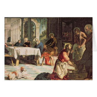 Christ Washing the Feet of the Disciples 2 Card