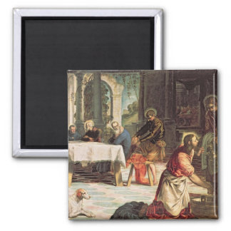 Christ Washing the Feet of the Disciples 2 2 Inch Square Magnet