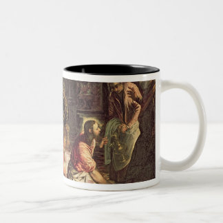 Christ Washing the Feet of the Disciples 2 Two-Tone Coffee Mug