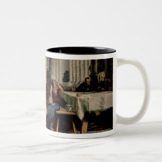 Christ Washing the Feet of the Disciples Two-Tone Coffee Mug
