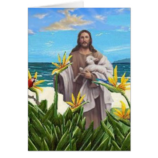 Christ With Bird Of Paradise Greeting Card