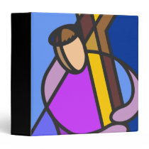 Christ With Cross Abstract Binder