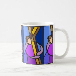 Christ With Cross Abstract Coffee Mug