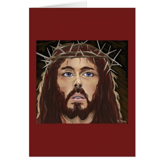 Christ with Crown of Thorns card