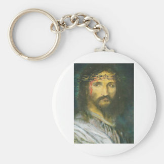 Christ with crown of thorns keychain