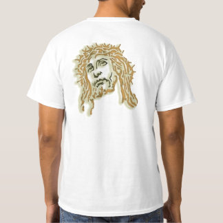 Christ with crown of thorns tee shirt