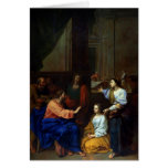 Christ with Martha and Mary Greeting Card
