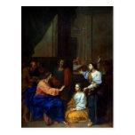 Christ with Martha and Mary Postcard