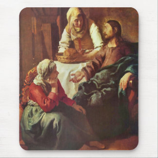 Christ with Mary and Martha by Johannes Vermeer Mouse Pad