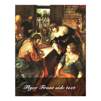 Christ With Mary And Martha By Tintoretto Jacopo ( Flyers