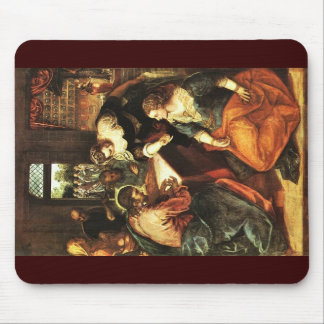 Christ With Mary And Martha By Tintoretto Jacopo ( Mousepads