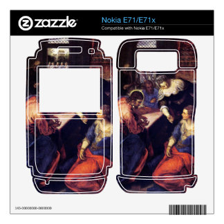 Christ with Mary and Martha by Tintoretto Skin For Nokia E71