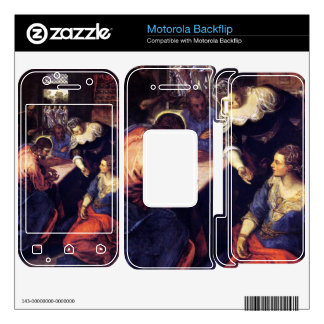 Christ with Mary and Martha by Tintoretto Motorola Backflip Decal