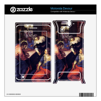 Christ with Mary and Martha by Tintoretto Skins For Motorola Devour