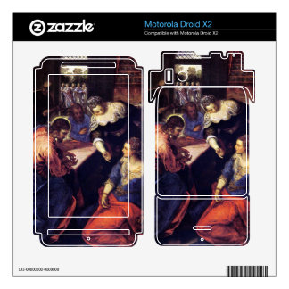 Christ with Mary and Martha by Tintoretto Motorola Droid X2 Decals