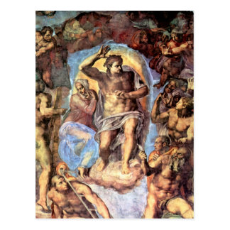 Christ with Mary by Michelangelo Unterberger Postcard