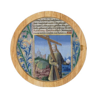 Christ with the Cross and the orb Round Cheeseboard