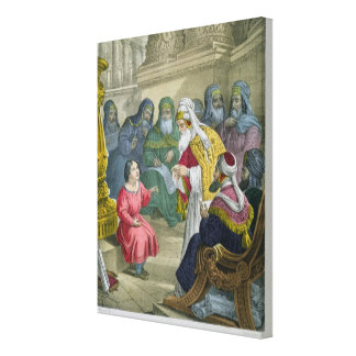Christ with the Doctors in the Temple, from a bibl Canvas Print