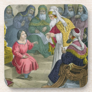 Christ with the Doctors in the Temple, from a bibl Drink Coaster