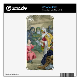 Christ with the Doctors in the Temple, from a bibl Decals For iPhone 4