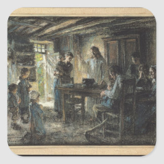 Christ with the Meek, 1903-04 Square Sticker