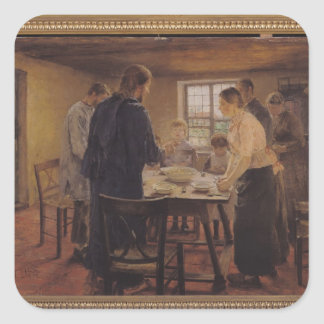 Christ with the Peasants, c.1887-88 Square Sticker