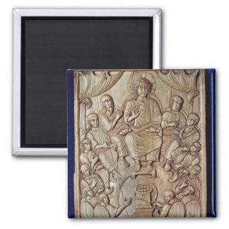 Christ with the Twelve Apostles 2 Inch Square Magnet