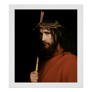 Christ with Thorns by Carl Bloch. Poster