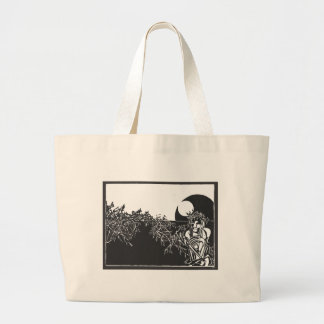 Christ Woodcut Large Tote Bag