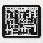 "CHRIST-Word Puzzle Mouse Pad<br><div class=""desc"">a great conversation piece,   a smart gift for your Christian friend/relative!</div>"