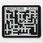"CHRIST-Word Puzzle Mouse Pad<br><div class=""desc"">a great conversation piece,   a smart gift for your Christian friend/relative!</div>"