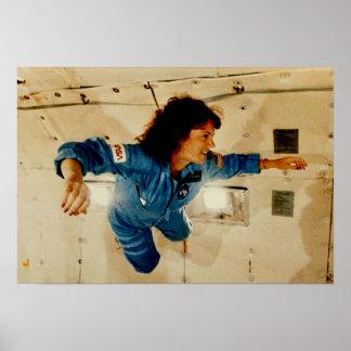 Christa McAuliffe In Weightless Training Poster