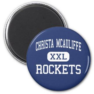 Christa McAuliffe Rockets Middle Elizabeth Refrigerator Magnets