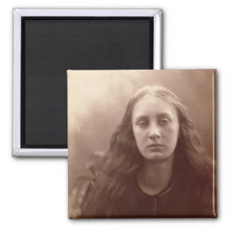 Christabel, portrait of May Prinsep, c.1867 (sepia 2 Inch Square Magnet